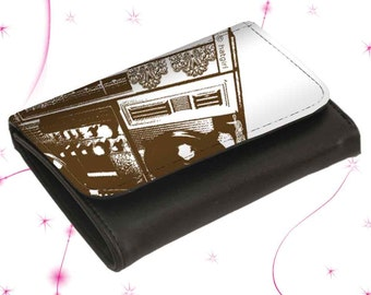 "Leather wallet purse ""Boombox"""
