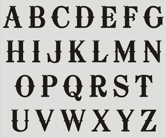 items similar to alphabet stencil 024 a