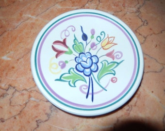 Poole England Floral Plate