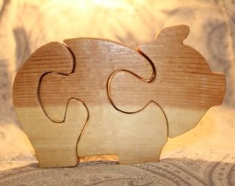 Small (3-piece) Piggy Puzzle