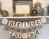 Wedding Shower Banners Bride To Be Chair Banner Rustic bridal shower banner or sign