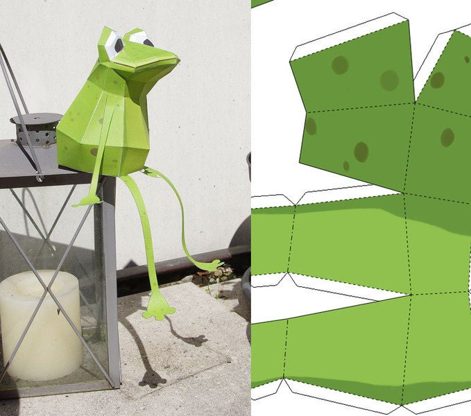 Easy Frog Paper Craft