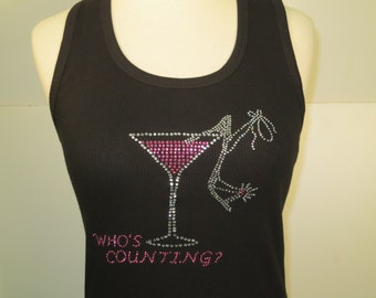 Who's Counting Rhinestone Tank Top