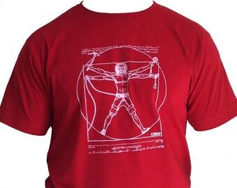 Rock Climbing T-shirt Crimp Universal Climber Stereo Red