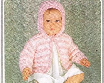 baby cardigan vintage knitting pattern PDF instant download