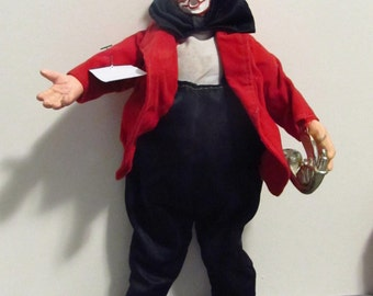 Resin Clown With Trumpet