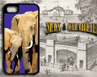 Elephant and Calf  iPhone 6/5/5c/4 Case -Samsung Galaxy S3/S4/S5 Case-Phone Cover