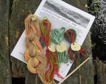 Weaving Kit, Educational Fingerweaving Kit