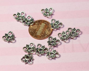 60 pcs  - 10mm Filigree Bali style Bead Caps Antique Silver Finish Lead Free Pewter