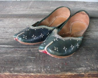 Handmade Leather Slip-Ons from East India | Women's size 8.5 - 9