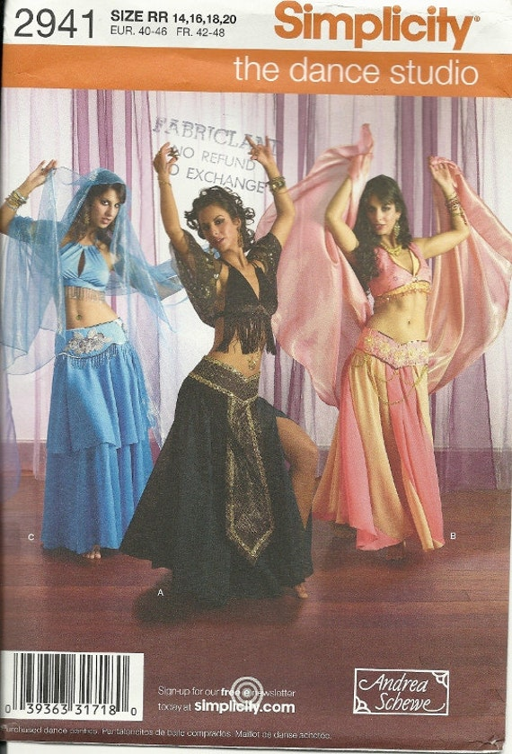 Belly Dance Costume Pattern Simplicity - 134.0KB