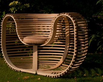 Contemporary Bent Wood Seat.