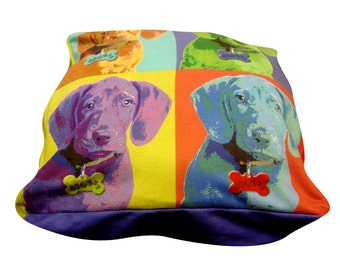 Portrait square dog bed. Dogzzzz tired of the same old plaids and stripes brings the rugged outdoors in and makes it fun.