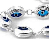 Greek Key Evil Eye Bracelet - SB170