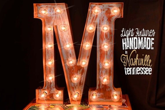 Marquee letter, Marquee sign, Lighted Metal MARQUEE SIGN, Marquee Light, Marquee Letter Fixture: Vintage Style, Marquee Letter Old Book Font