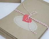 20 Kraft  Cute Paper Bags