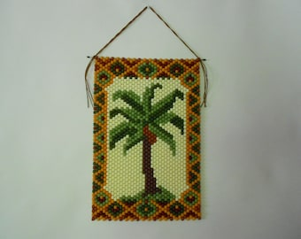 Beaded Palm Tree Banner