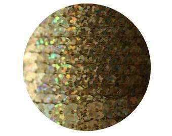 6mm Gold Hologram Laser Flat Sequin Trim