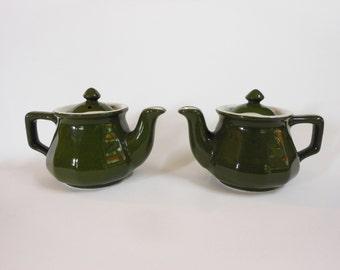 2 Hall single serving Tea Pots