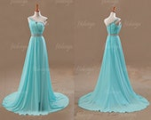 light blue prom dress, long prom dress, chiffon prom dress, custom prom dress, formal prom dress, one shoulder prom dress, 1400135 - fitdesign
