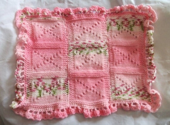 Pretty Baby Stroller blanket or can be used for a wrap for a baby doll or reborn.