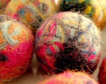 Custom-made 20 small felted balls from 100% recycled Pendleton wool. To use in your projects as accent baubles or what have you....