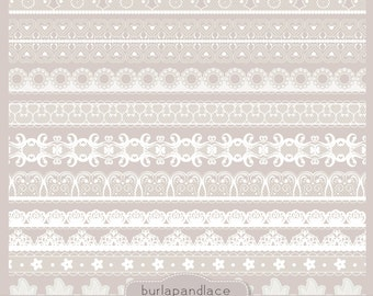 Clipart white lace borders, clip art lace, lace border, digital lace border, digital border, lace digital, border lace