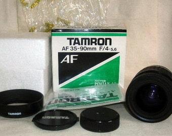TAMRON AF 35-90 mm f 4-5.6 Lens, for Pentax-AF New Old