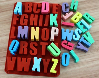 alphabet letters mold cake mold mould silicone mold biscuit mold chocolate mold soap mold