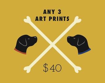 3 Art Prints Special - Three wall art prints