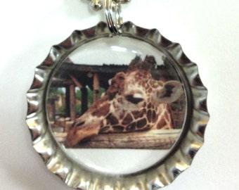 Giraffe - Bottlecap Necklace