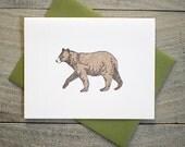 Black Bear Letterpress Card
