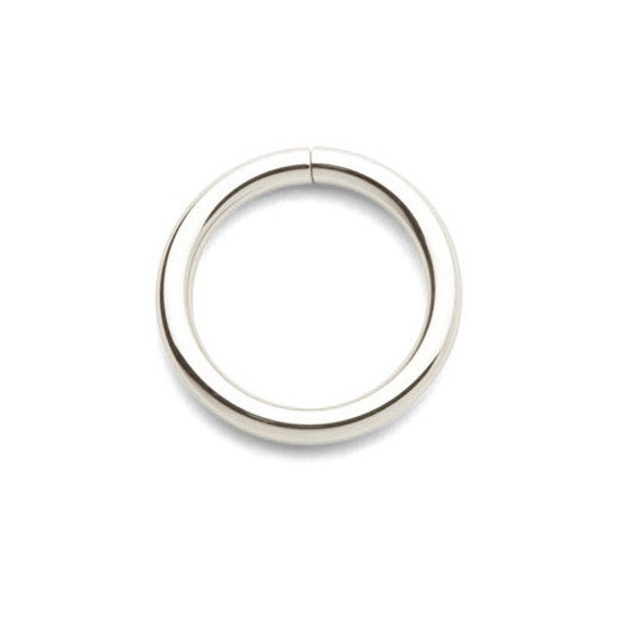 14k solid white gold seamless ring continuous nose by