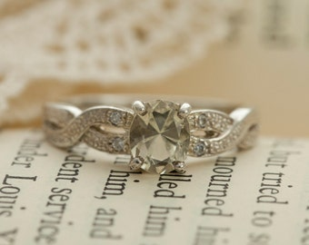 Oregon Sunstone in Sterling Silver Ring, Style VJ