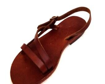 CARNA: Classically Simple Asymmetric Sandal Handmade leather sandals custom size available