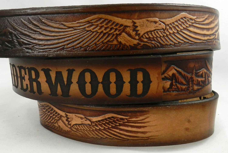 name belt eagle nbt107 includes name in center back