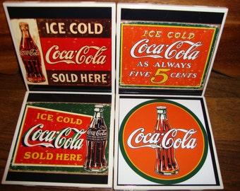 Coca Cola Coasters (set of 4)