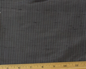 """Grey Pinstripe Dupioni Stripes 100% Silk Fabric, 54"""" Wide, By The Yard (SD-638F)"""