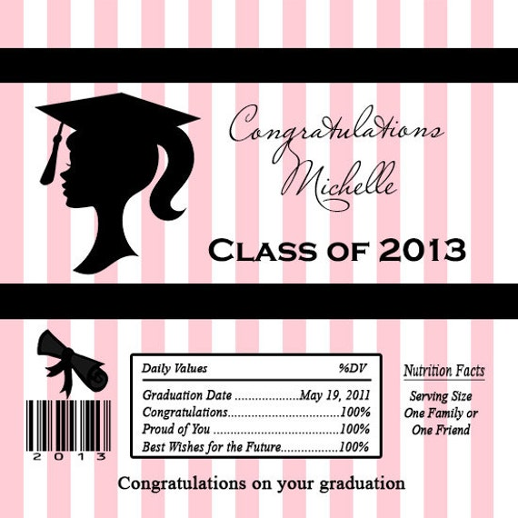 Unavailable listing on etsy for Free printable graduation candy bar wrappers templates