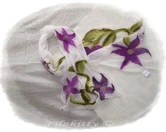 Felt shawl silk scarf
