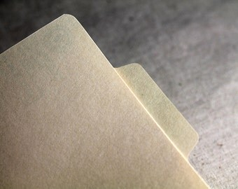 Mini File Folder - sized for A6 envelopes (10 mini file folders), scrapbook folder, menu folder, unique invitation
