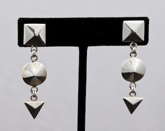 Geo6 - Earrings - Sterling Silver