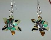 Repurposed Aluminum Flower Bloom Earrings