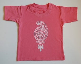 Indian paisley tshirt for toddlers