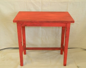 Red Piano Bench