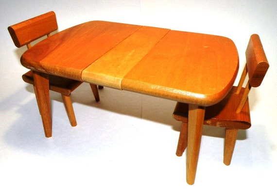 S vintage stromberg wooden doll furniture dining table