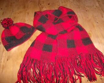 Maxi scarf with cap