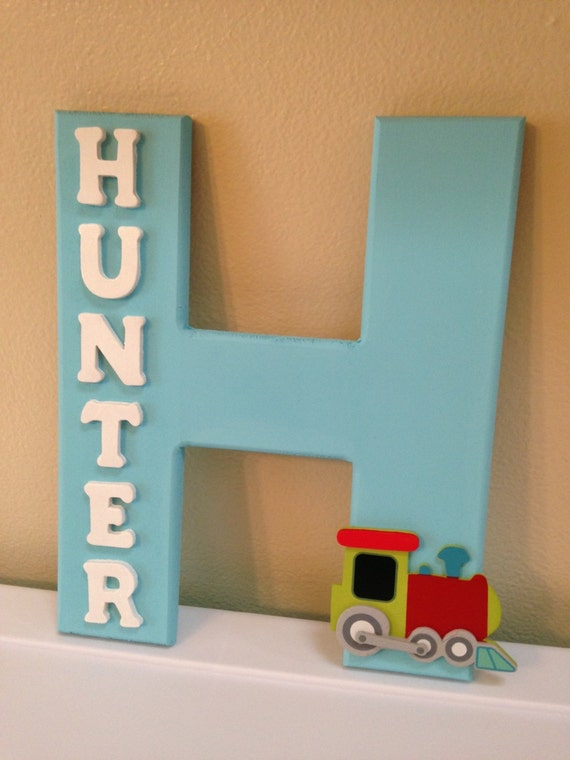 Custom baby boy name decor hunter for Baby name decoration