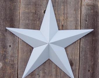 32 Inch Painted Galvanized Heavy Duty Metal Amish Tin Barn Star