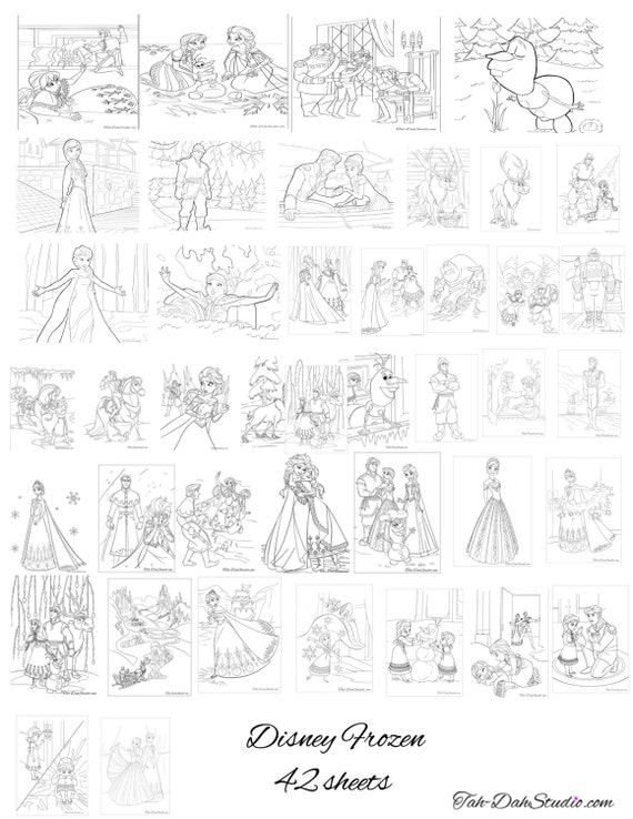 Colouring Pages Frozen Games : Disney frozen new coloring pages birthday party by